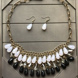 Layered Necklace & Earrings